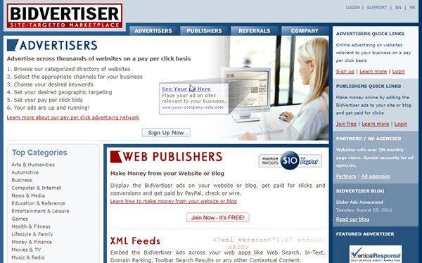 Bidvertiser PPC Ad Networks