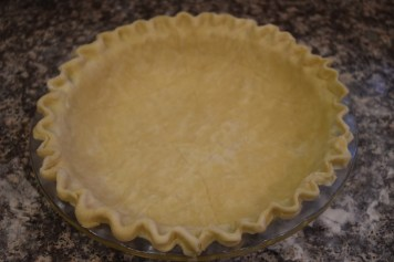 Simple and economical, this pie crust takes just four ingredients