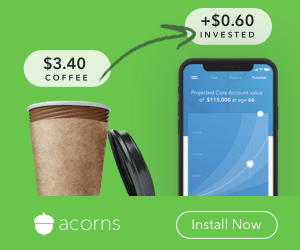 participate in spare change investing with acorns