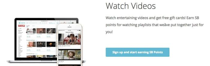 get paid to watch videos with Swagbucks