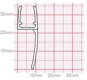 Duschdichtung | 6-8 mm Glasstärke | 019-09