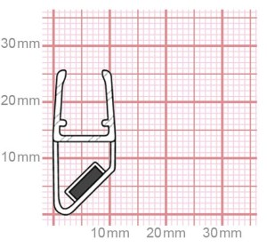019-24 Dichtung für Duschkabinen mit Magnet