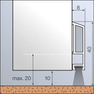 Türbodendichtung aus Kunststoff mit Bürstendichtung Zargo B40