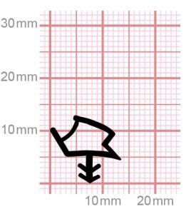Holzzargendichtung für Zimmertüren | 009-19