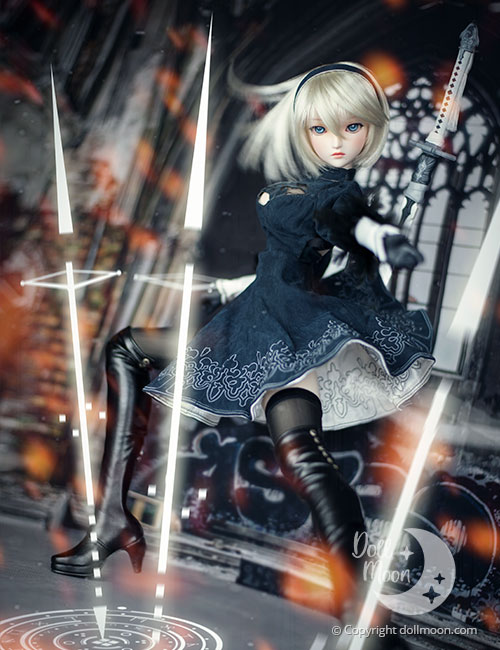 A proud result of my first photo session with my 2B Dollfie Dream doll.