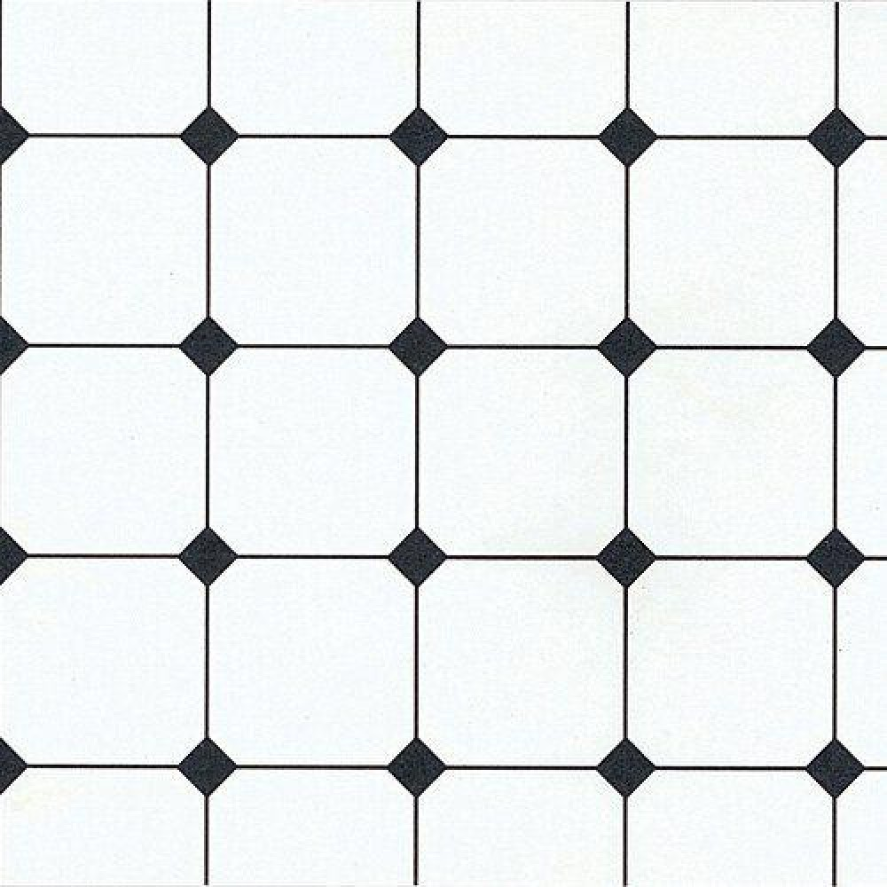 The Dolls House Emporium Black & White Tile Paper