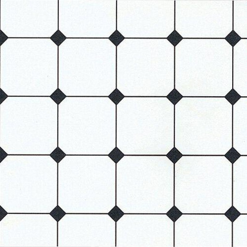 The Dolls House Emporium Black & White Tile Paper