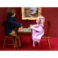 Carl Schmeider Magnetic Chess Set with Table and Chairs