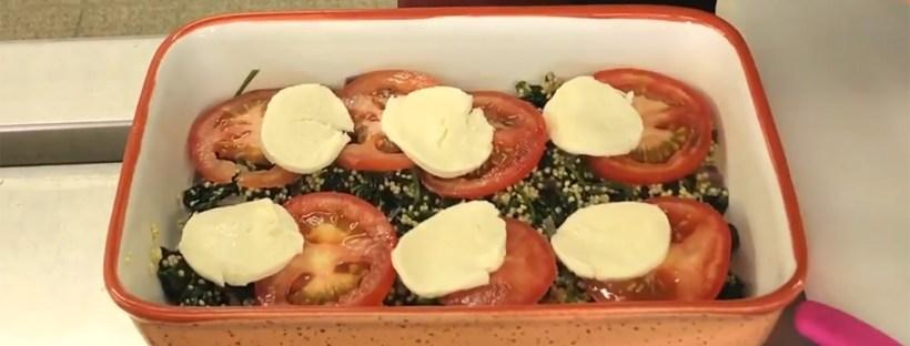 Vegetarischer Hirse-Spinat Auflauf