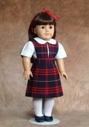 american girl doll school uniforms