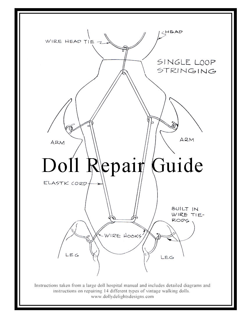 Doll Repair Guide Manual Patti Playpal Tiny Tears Betsy Wetsy