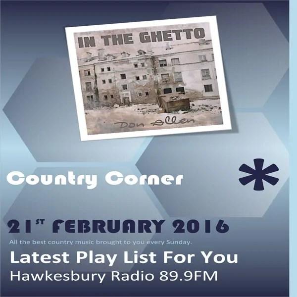 Country Corner 21st February 2016