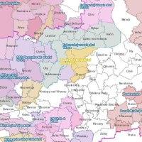 mapka s místními svazky obcí