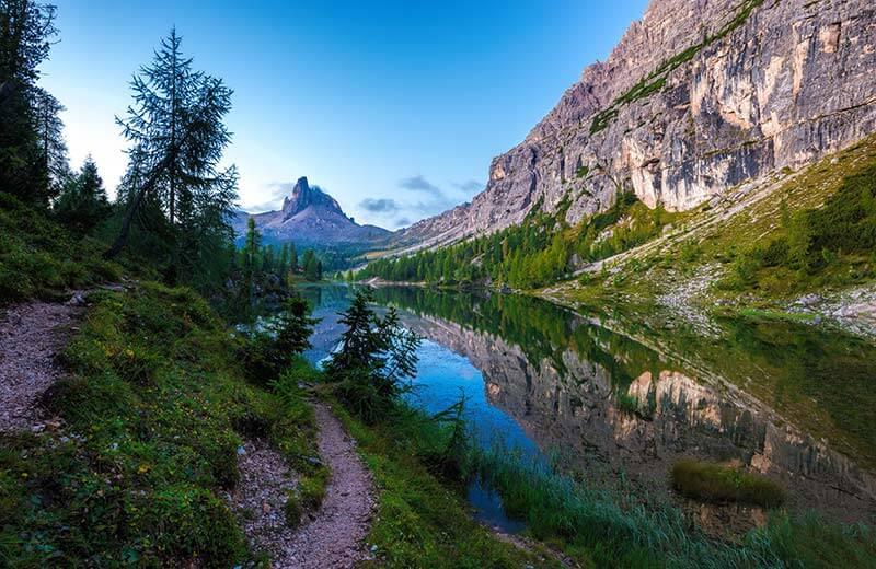 Lago Federa  Laghetto alpino nelle Dolomiti
