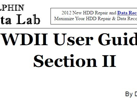 Bad Sector HDD Repair Manuals By DFL-WD II HDD Repair Tool