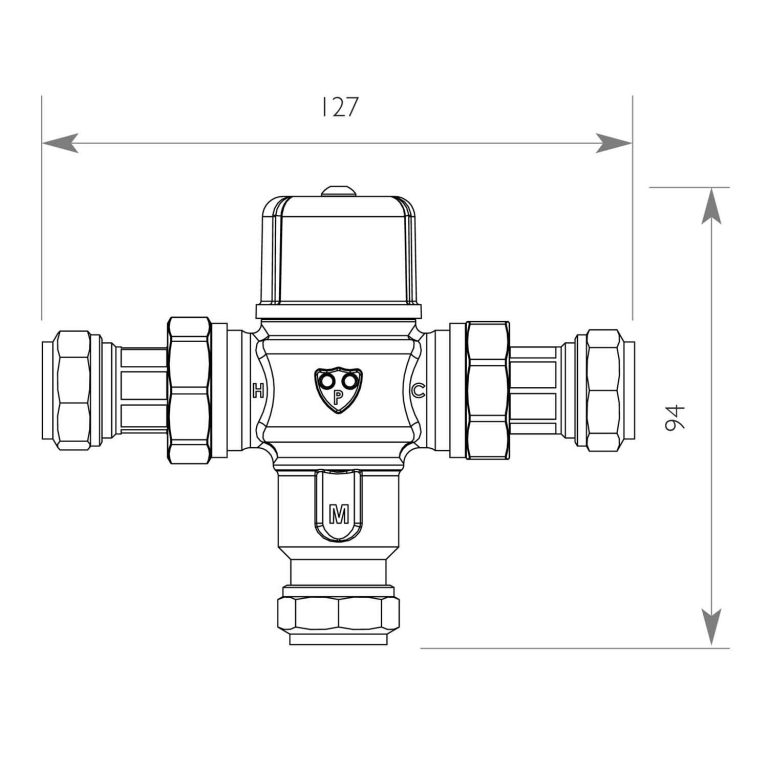 DOLPHIN TMV3 INTEGRATED THERMOSTATIC MIXING VALVE