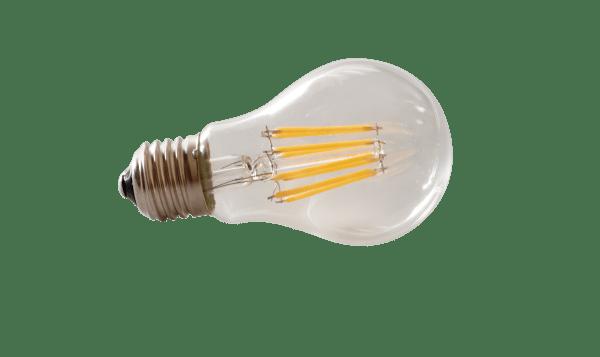 Lampadina LED E27 filamento 8W luce calda