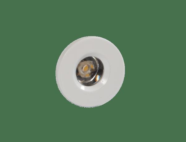 Faretto LED segnacaso 1W rotondo bianco incasso