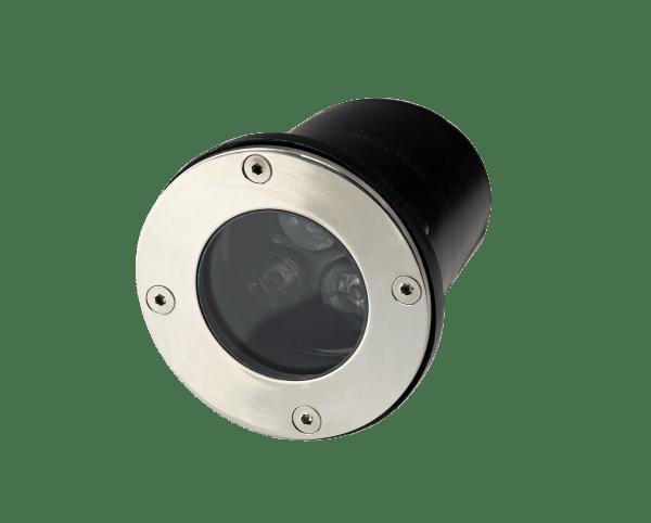 Faretto LED 3W per esterno rotondo con incasso a terra e parete Protezione IP67