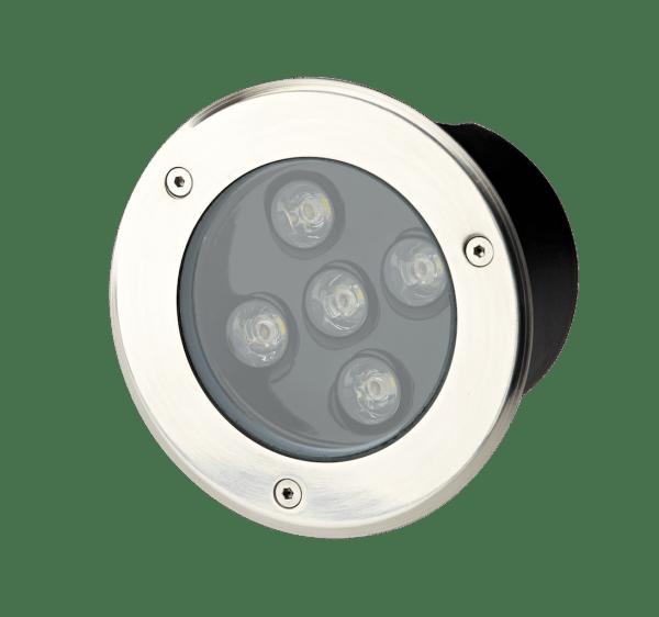 Faretto LED per esterno rotondo 5W incasso terra parete