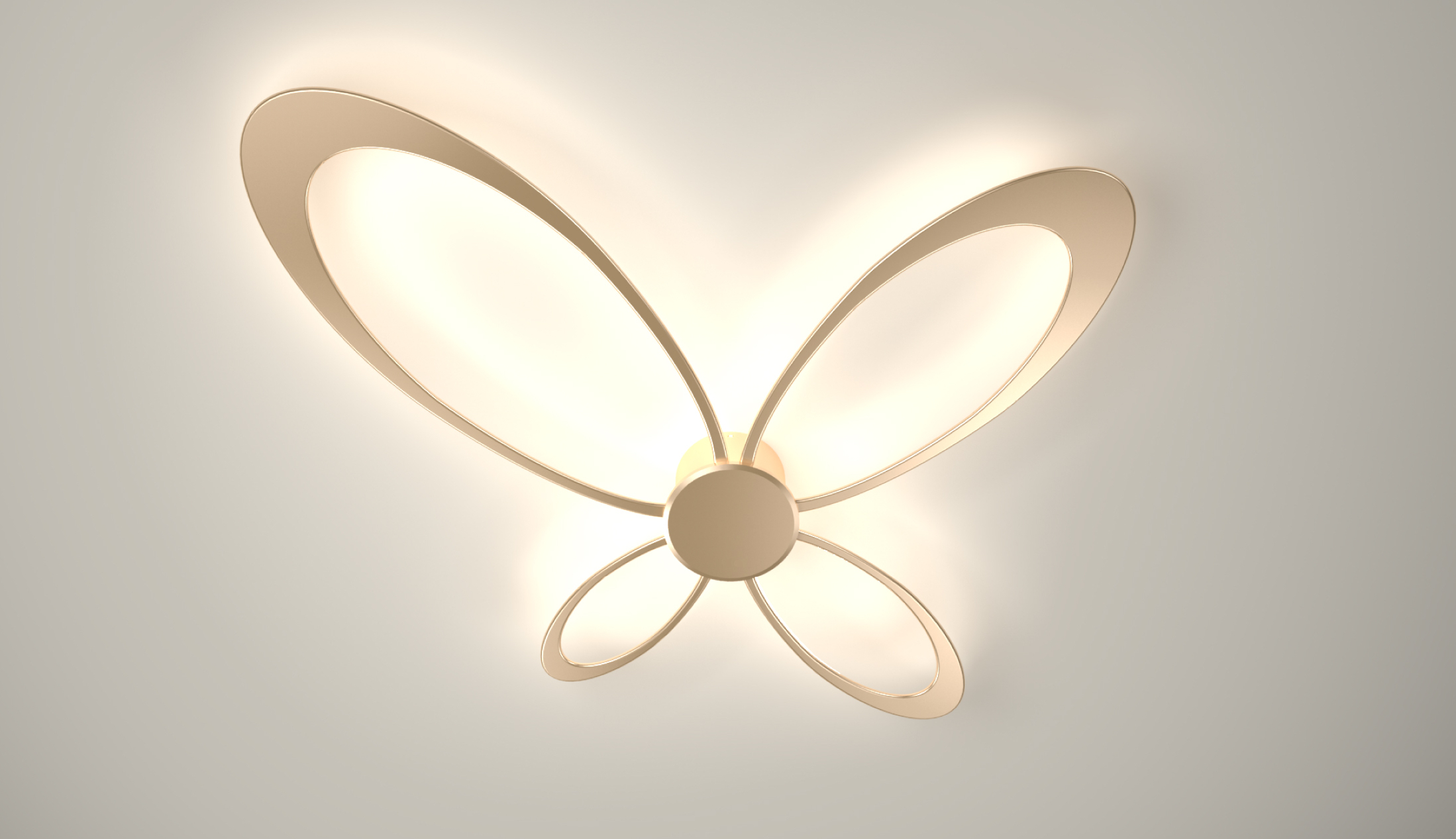 Design led wall light w alambra
