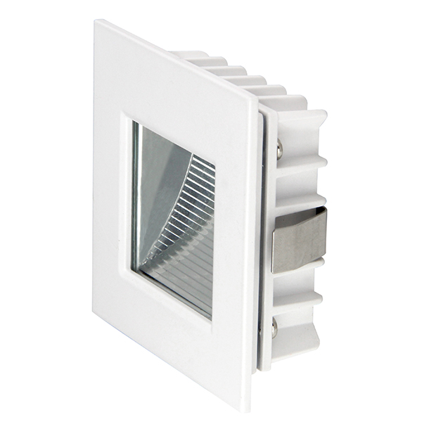 Rectangular LED recessed steplight 3W