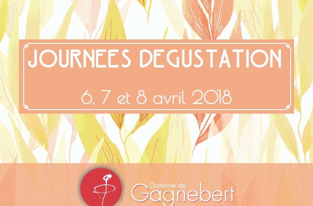 Prochaines journées dégustation les 6,7 et 8 avril 2018