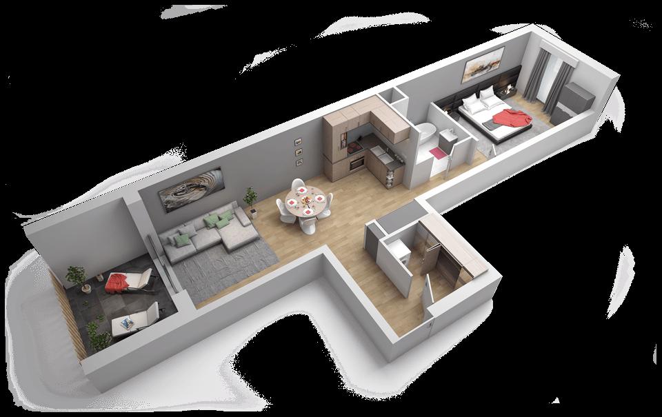 Plan Maison 2 Pices Interesting Decoration Interieur Appartement Pieces Voir Nos Decoration