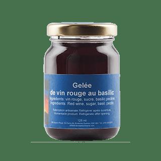 gelée de vin rouge au basilic