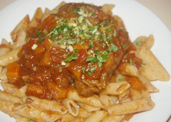 Osso Buco with tomatoes & gremolata