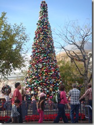 Christmas tree at Disneyland