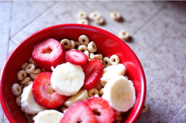 strawberries, bananas and cheerios, oh my!
