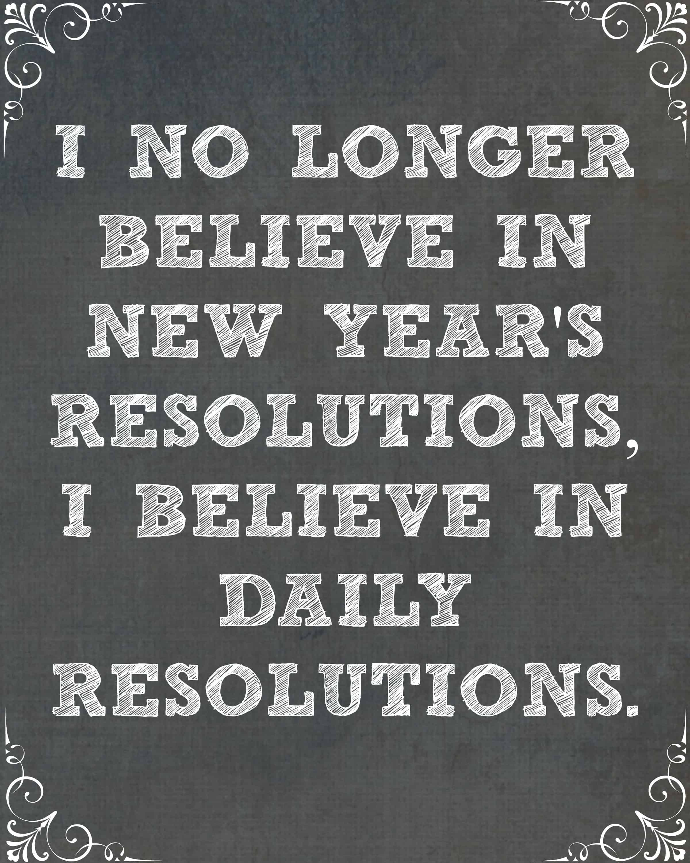 Any New Year Resolutions