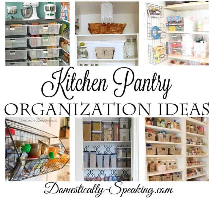 kitchen pantry organization ideas bar stools with backs domestically speaking
