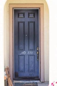 Gel Stained Front Door - Domestically Speaking