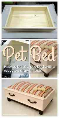 How to Make a DIY Dog Bed with a Recycled Drawer Look ...