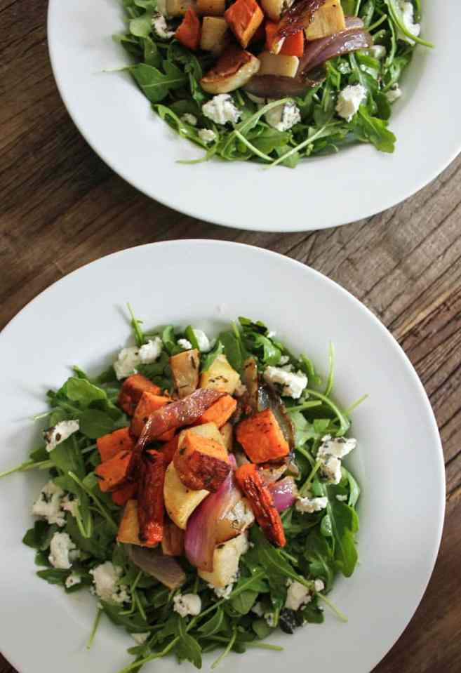 Roasted-Root-Vegetable-Salad-with-Herbed-Goat-Cheese-and-Arugula-20