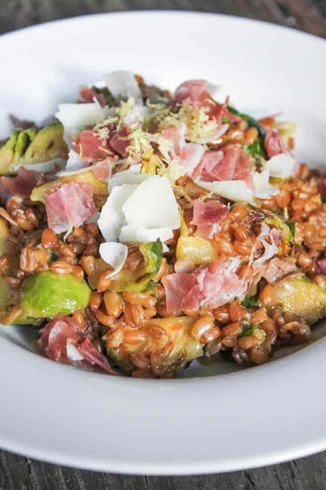 Farro-risotto-with-prosciutto-parmesan-and-brussels-sprouts-10