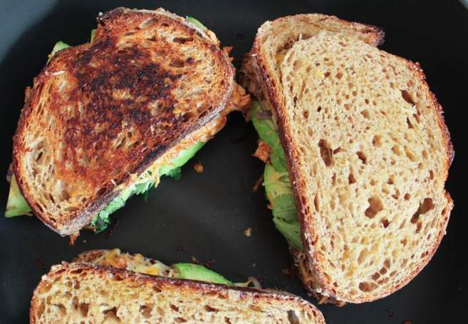Barbecue-Chicken-Grilled-Cheese-with-Avocado-Cilantro-and-Red-Onion-step-10