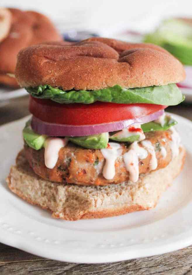 Sweet-Potato-and-Black-Bean-Turkey-Burgers-with-Sriracha-Lime-Crema