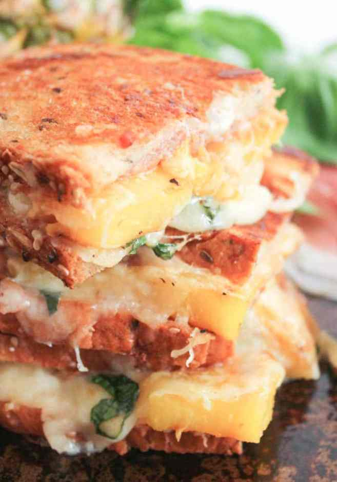 Hawaiian-Grilled-Cheese-With-Grilled-Pineapple-Prosciutto-and-Basil-8
