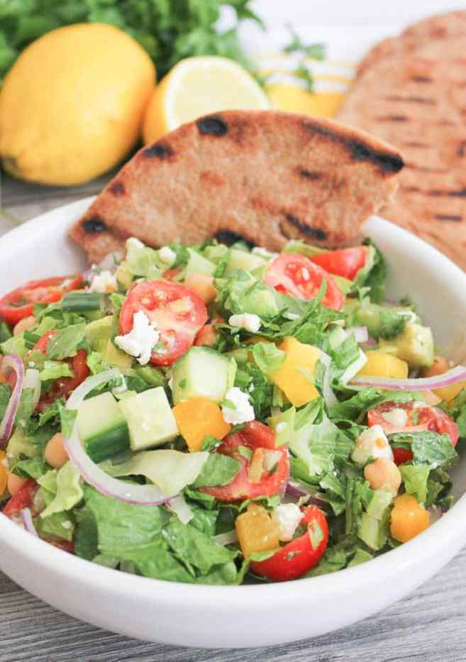 Chopped-Greek-Salad-With-Avocado-Chickpeas-and-Lemon-Dressing-7