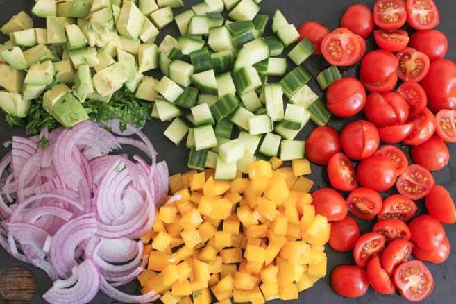 Chopped-Greek-Salad-With-Avocado-Chickpeas-and-Lemon-Dressing-Step-2