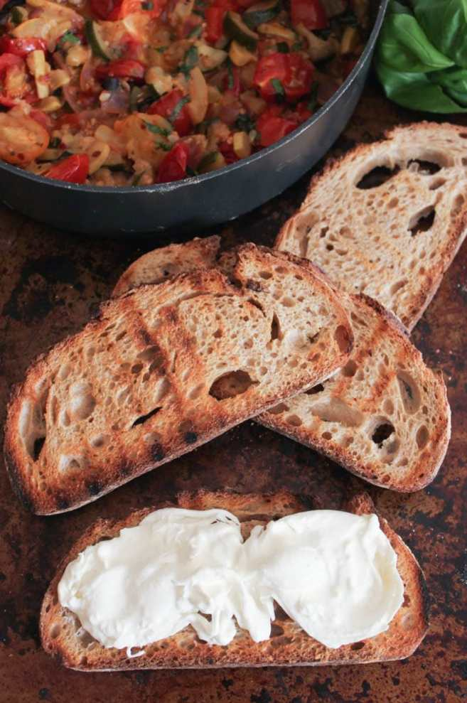 Ratatouille-Tartines-with-burrata-and-honey-balsamic-drizzle-step-9