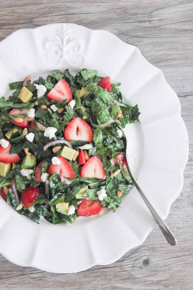 Summer-Kale-Salad-with-Strawberries-Avocado-Pine-Nuts-and-Goat-Cheese-6