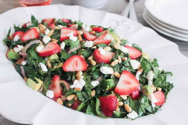 Summer-Kale-Salad-with-Strawberries-Avocado-Pine-Nuts-and-Goat-Cheese-7