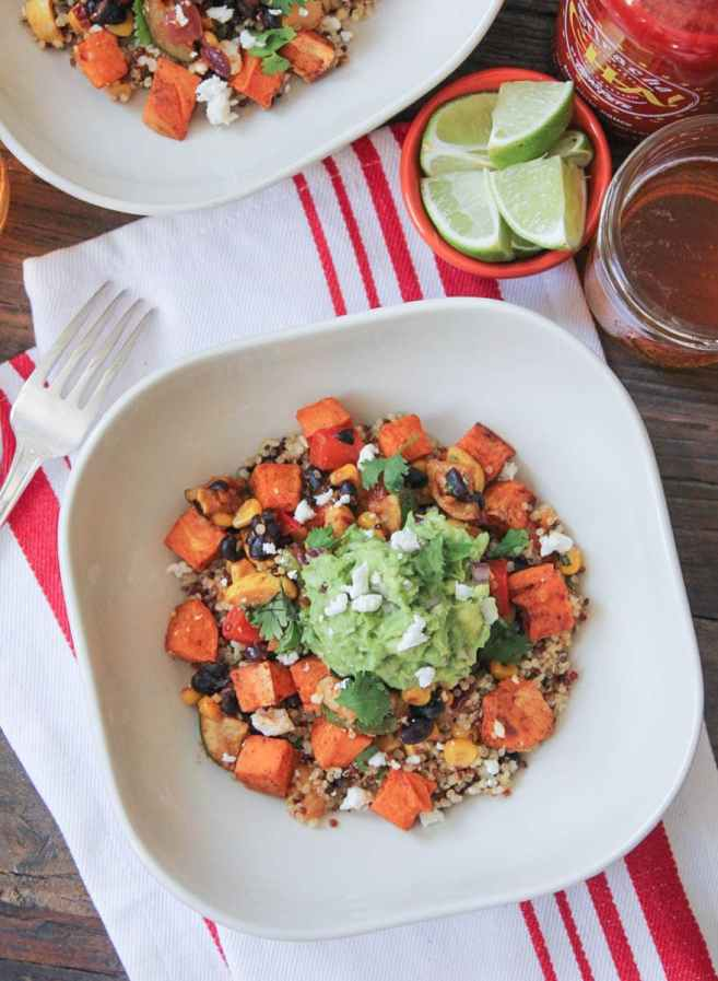 Vegan-Sweet-Potato-Burrito-Bowls-with-Summer-Vegetables-and-Quinoa-5
