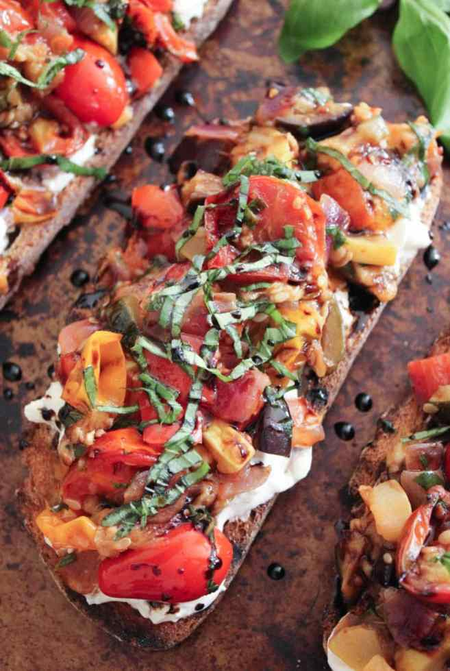 Ratatouille-Tartines-with-burrata-and-honey-balsamic-drizzle-3
