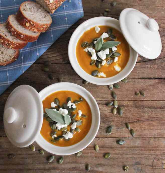 Butternut-Squash-Soup-with-Roasted-Garlic-Goat-Cheese-and-Pepitas-2