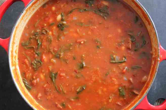 tomato-white-bean-stew-with-spinach-and-chicken-sausage-step-6